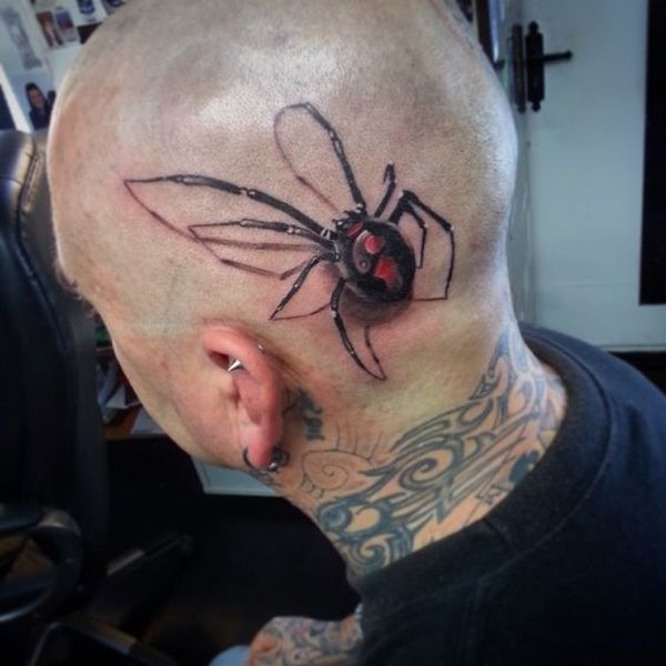 Top Cool Scary 3d Spider Tattoos Designs For Men Women With