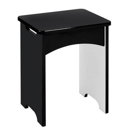 Legato Black Dressing Table Stool