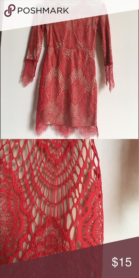 Red Lacey dress Charlotte Russe Lacey look short dress. This dress looks awesome with strappy red or nude heels. Very cute! Charlotte Russe Dresses Mini