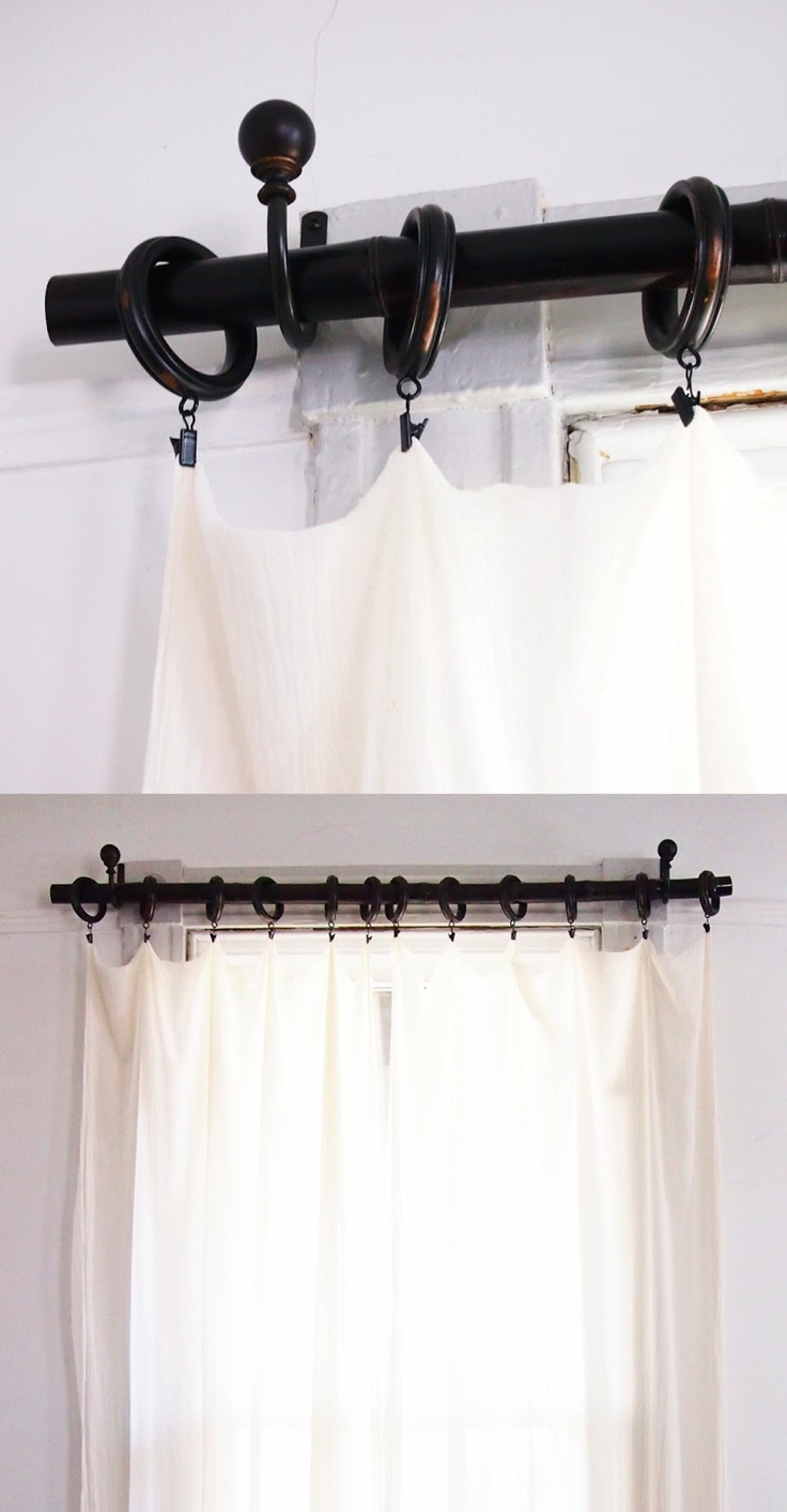 Bamboo curtain rods diy - Inexpensive Diy Pottery Barn Esque Curtain Rod With Foraged Bamboo On High Occasions