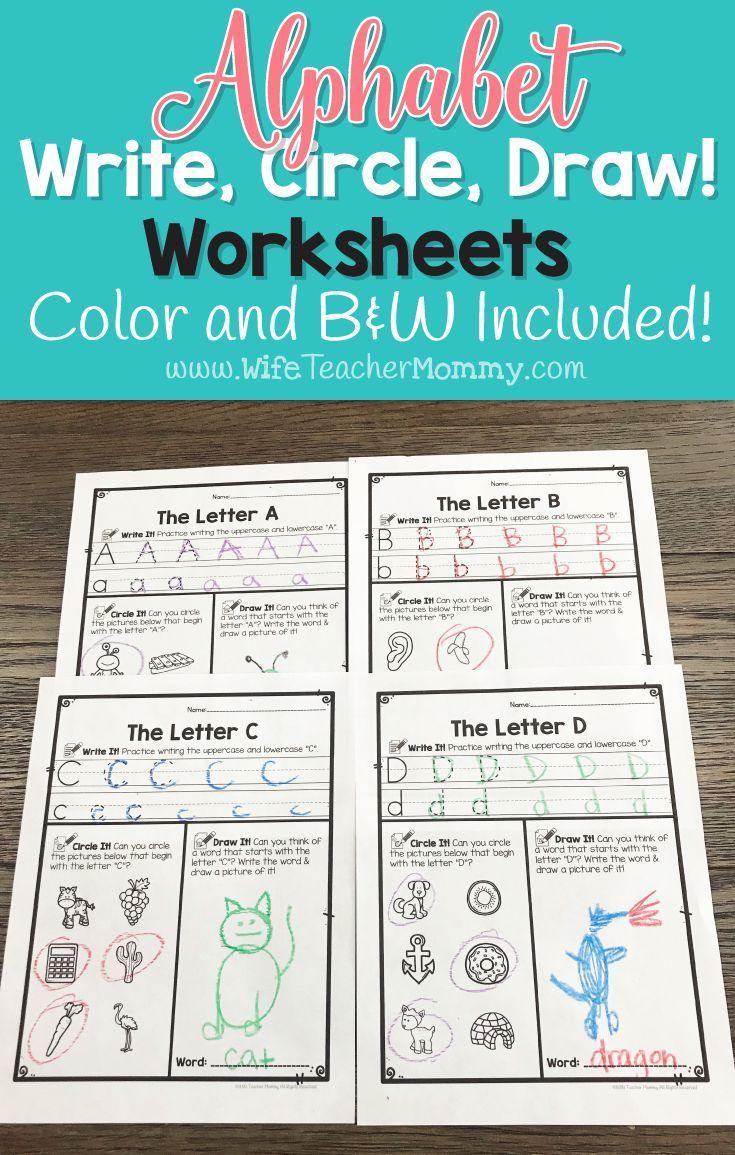 alphabet worksheets write circle