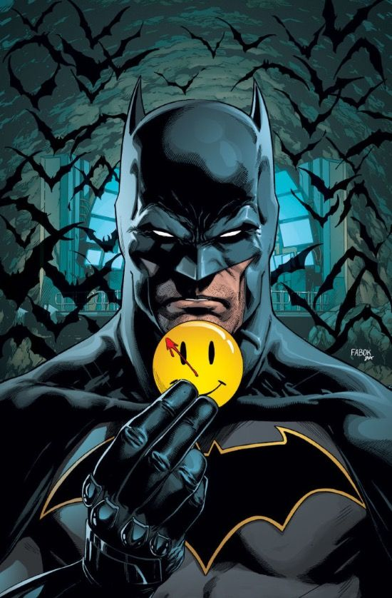 • Batman #21 cover (Batman image) by Jason Fabok. (DC Comics)
