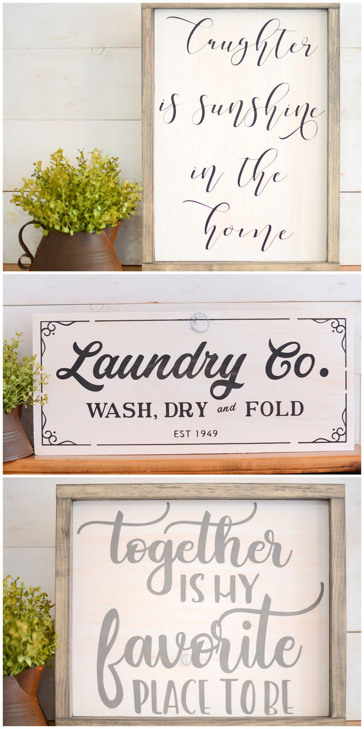Farmhouse Wood Signs - Favorite SIgns - Shop Wood Signs - DIY Wood Signs
