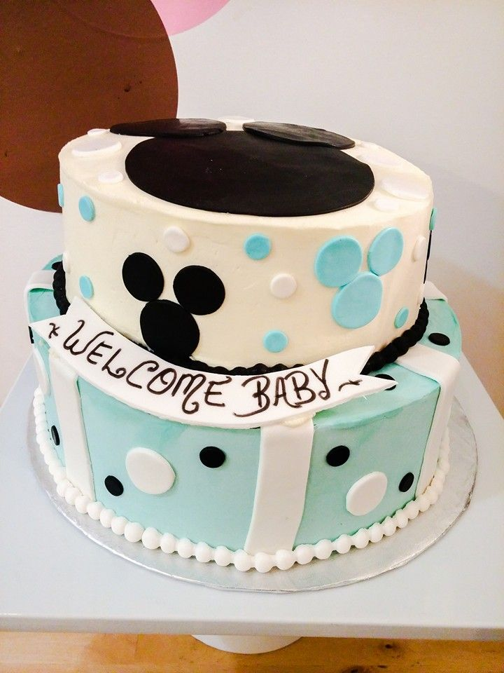 Mickey Mouse Baby Shower Cake From Patisserie Crazy About Cupcakes