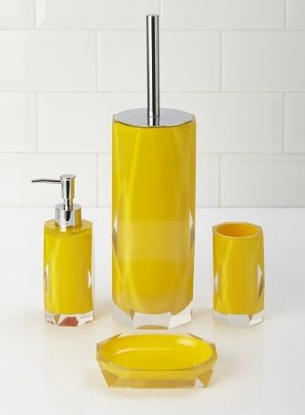 Bathroom Accessories Set Yellow