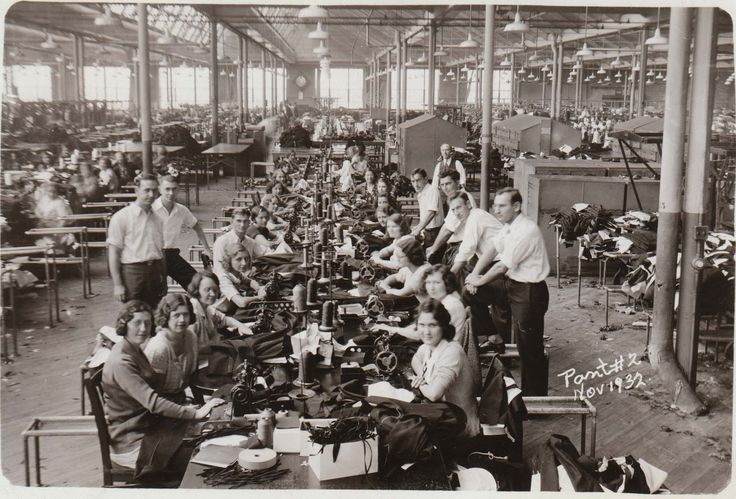 1950s garment factory - Google Search | factory setting ...