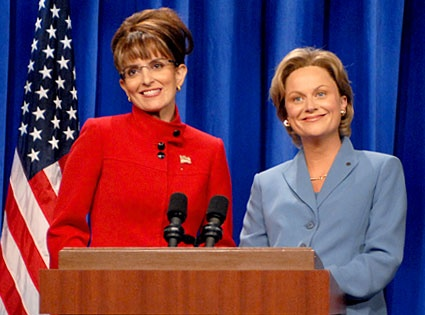 Tina Fey and Amy Poehler as Sarah Palin and Hilary Clinton!  Greatness!