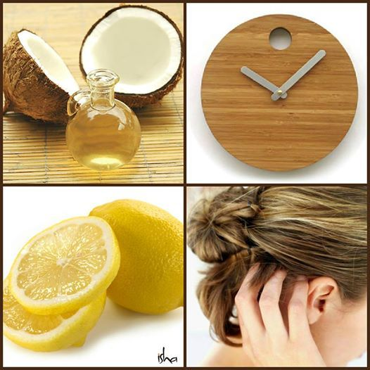 Natural Remedy for Dry Scalp - Heat 1/2 C coconut oil Add juice of one lemon Massage into scalp and leave for 20-40 minutes. Shampoo and rinse. See what causes dry scalp and can help at