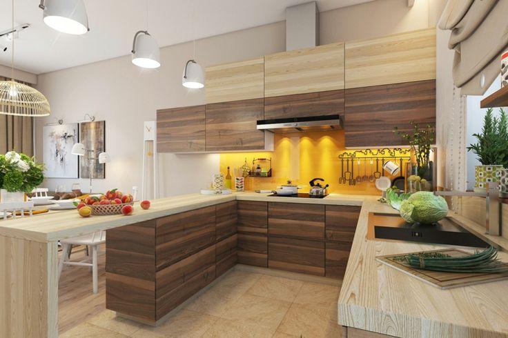 Moderne Dekoration in Gelb für die Küche 20 sehr