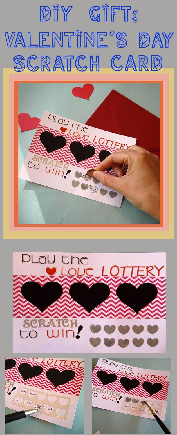 Diy Scratch Off Valentine S Day Card Diy Ideas