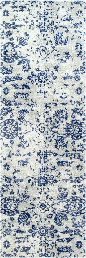 NuLOOM Arvilla Damask Rug Blue