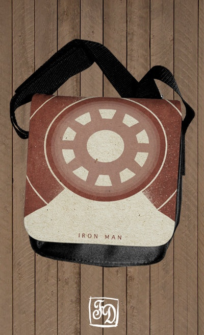 IRON MAN shoulder bag  The Avengers  Marvel by FeerieDoll on Etsy, $30.00