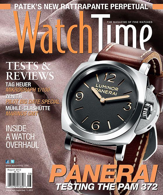 www.watchtime.com | wristwatch industry news current issue  | WatchTimes July August Issue Is On Sale Now! | WatchTime JulAug2012: Magazines Panerai, Julyaugust 2012, Watchtim Magazines, Watchtim Julyaugust, Time Magazines