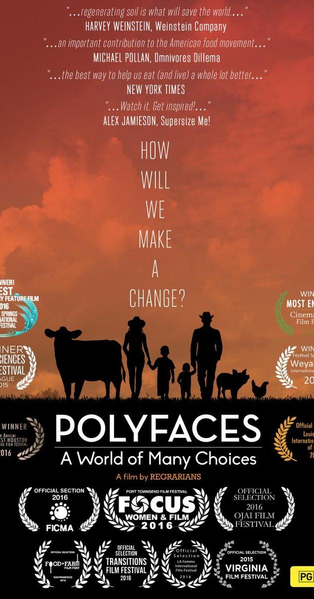 Directed by Isaebella Doherty, Lisa Heenan.  With Joel Salatin, Lucille Salatin. An in-depth look at the development of Polyface Farm in rural Virginia and its community involvement.