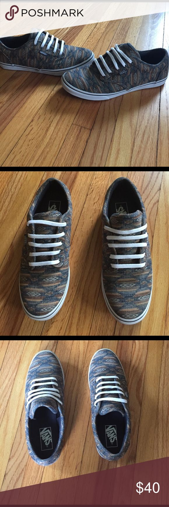 Women's Vans Sneakers. Size 7. Like new condition. These are new without tags. I've never worn these shoes outside of the house. I loved them in the store, but they just didn't match any of my outfits. They are tribal print. Vans Shoes Sneakers