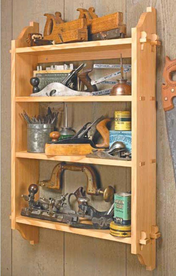 Knock Down Wall Shelf Woodsmith Plans Pinterest More