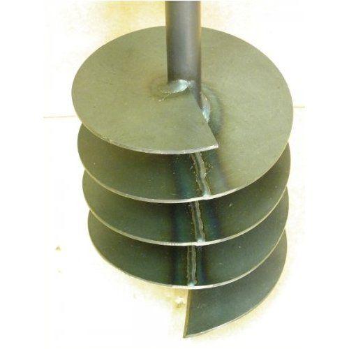 200 mm Bohrkopf Erdbohrer Erdlochbohrer Brunnenbohrer Pfahlbohrer Handerdbohrer Bohrgerät f. Brunnen und Rammfilter