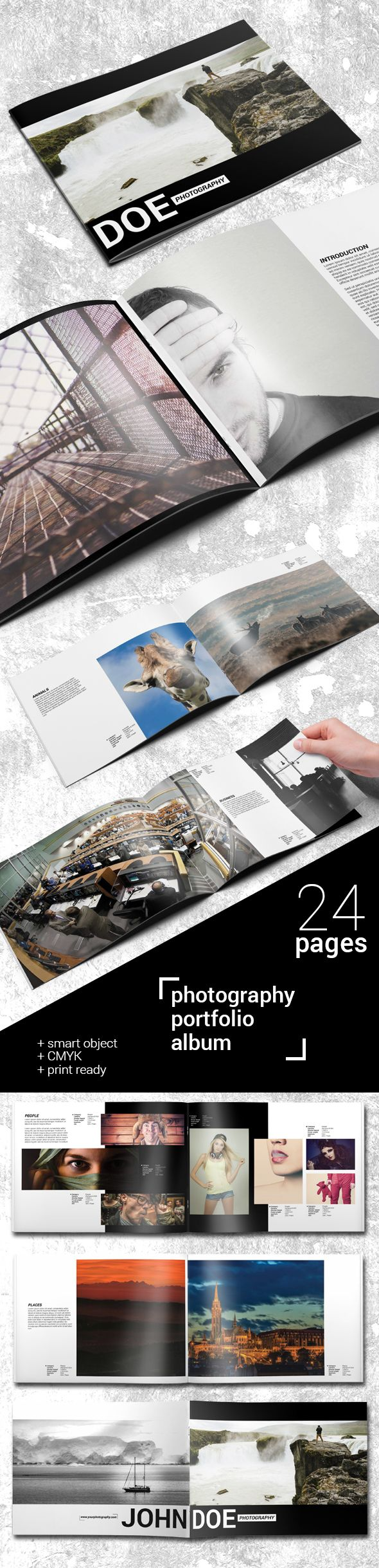 24 Pages Photography Portfolio Album on Behance