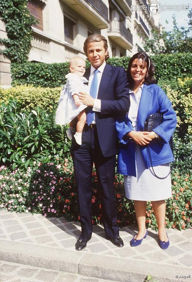 Christina Onassis With Husband Thierry Roussel And Their Baby Girl Athina