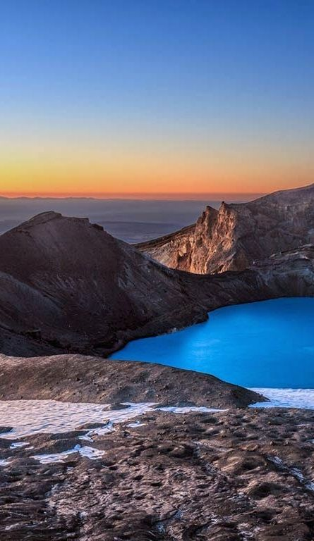 Mount Ruapehu's crater lake, Central North Island, New Zealand