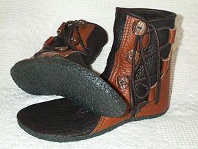 Leather Hunting Moccasin   Moccasin Styles, Stealth Trackers, Tracking Moccasins, Bow Hunting ...