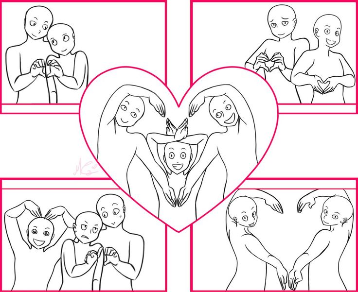 Draw the squad_valentine's day version by RukusuCherry on DeviantArt Couple / Family photo