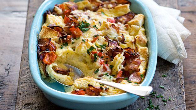 Cheesy bacon and egg slice