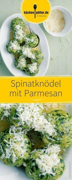 Ein leckeres vegetarisches Gericht für die ganze Familie: Lockere Knödel mit Spinat und Parmesan.