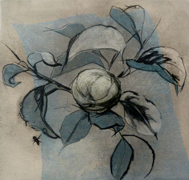drypoint and chine colle - Helen Kennedy