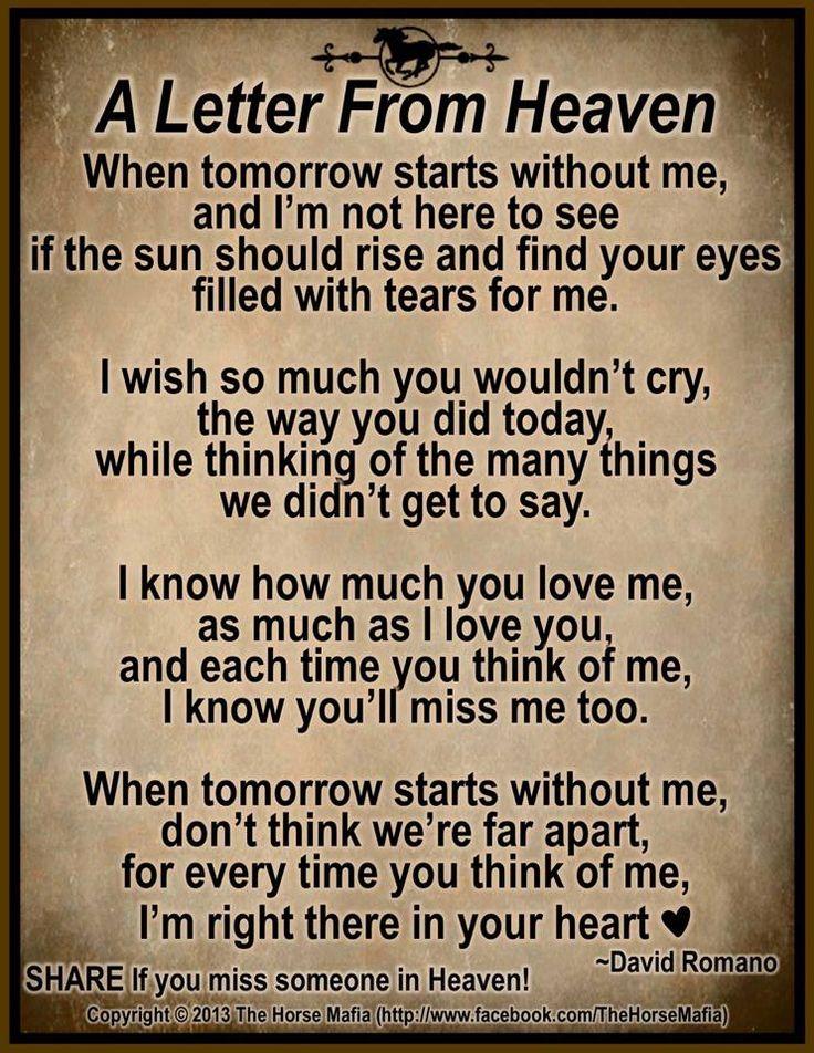 Letter From Heaven @Jackie Godbold Godbold Glazer @Jamie Wise Wise ...