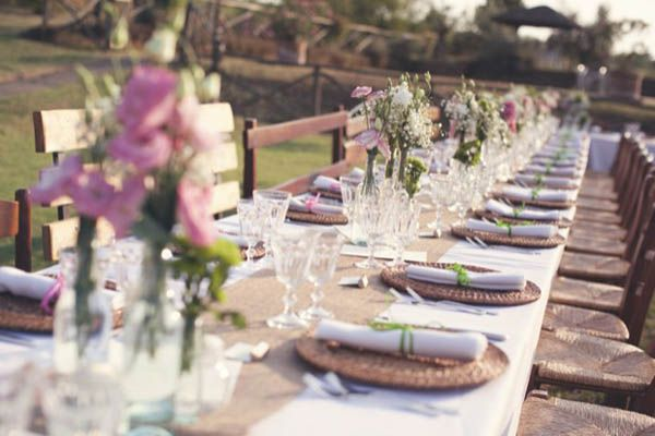 country chic table setting