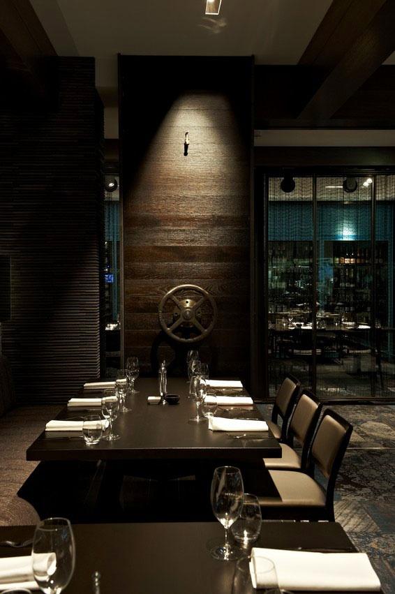 Unique The Atlantic Restaurant uses a bination of Laminex FSC Timber Veneers Smoked Oak and Seasoned Oak