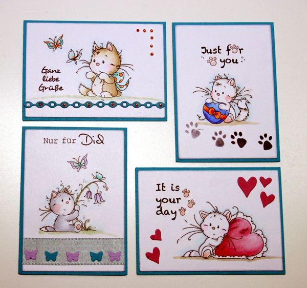 Artist Trading Cards mit Kätzchen