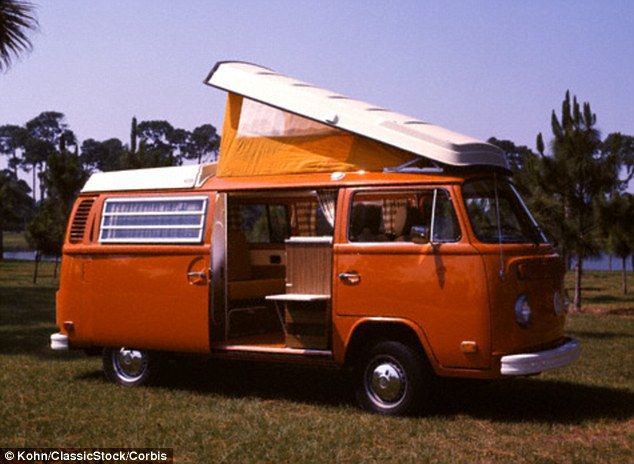 The iconic Volkswagen Westfalia Camper (pictured here including an extendable roof) is abo...