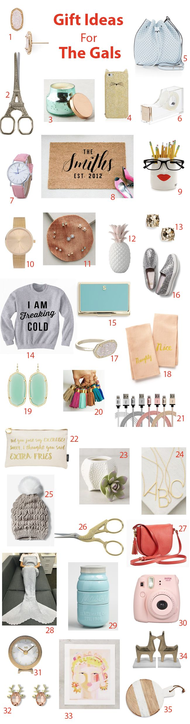 A giant gift guide for gals full of affordable and fun items (many of which are hugely marked down - there are $3 watches!!)