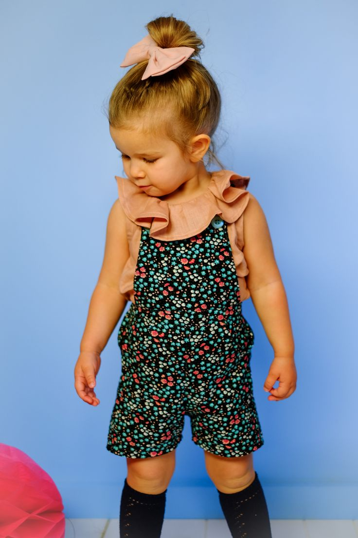 PDF sewing pattern. Children's Dungarees / Overalls. Boys and Girls.