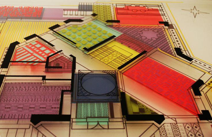 Arte y Arquitectura: Reinterpretación de planos arquitectónicos por Isabel Geisse