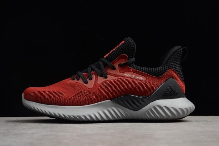 New adidas Alphabounce Beyond Black Red Running Shoes AC8626
