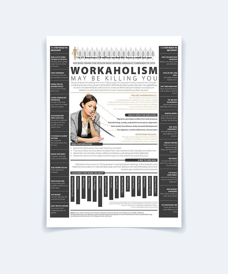 Workaholism Infographic on Behance