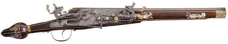 Superposed Saxon Wheelock Pistol (Manufactured circa 1600-1610 in Saxony)