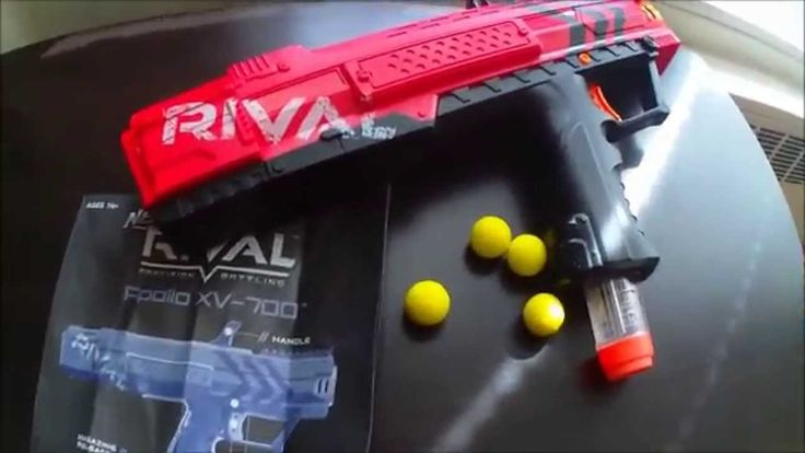 Hey guys! This is Blee from Nerf Gun Attachments (dotcom). Here today, we will be doing a full review of the Nerf RIVAL Apollo blaster. I'll be going over the external features, showing how to prime and fire, and a full Firing Range Test outside. Then I'll talk about what I like and don't like with this new Rival blaster. Check it out guys!