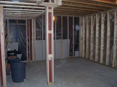 Basement poles since i have to do floating walls how do for How to build floating walls in basement
