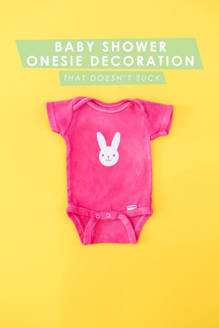 A Baby Shower Onesie Decorating Station (That Doesn't Suck)