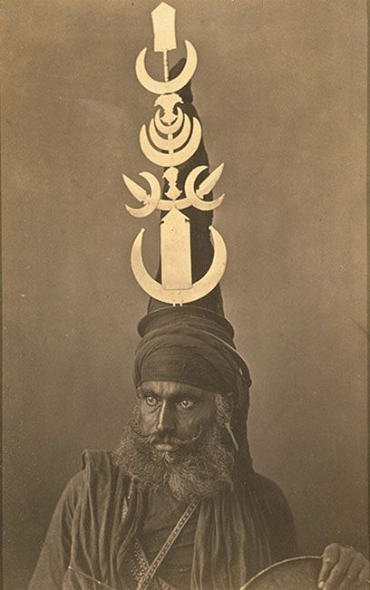 Photo of a Sikh soldier, India. ca 1860-1870.