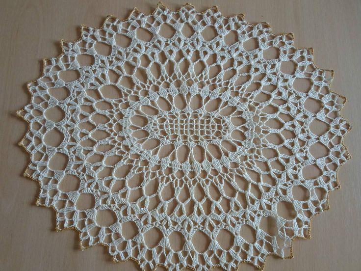Handmade doilies (18 x 15 inch) (48 x 39cm) by Ela Mazek