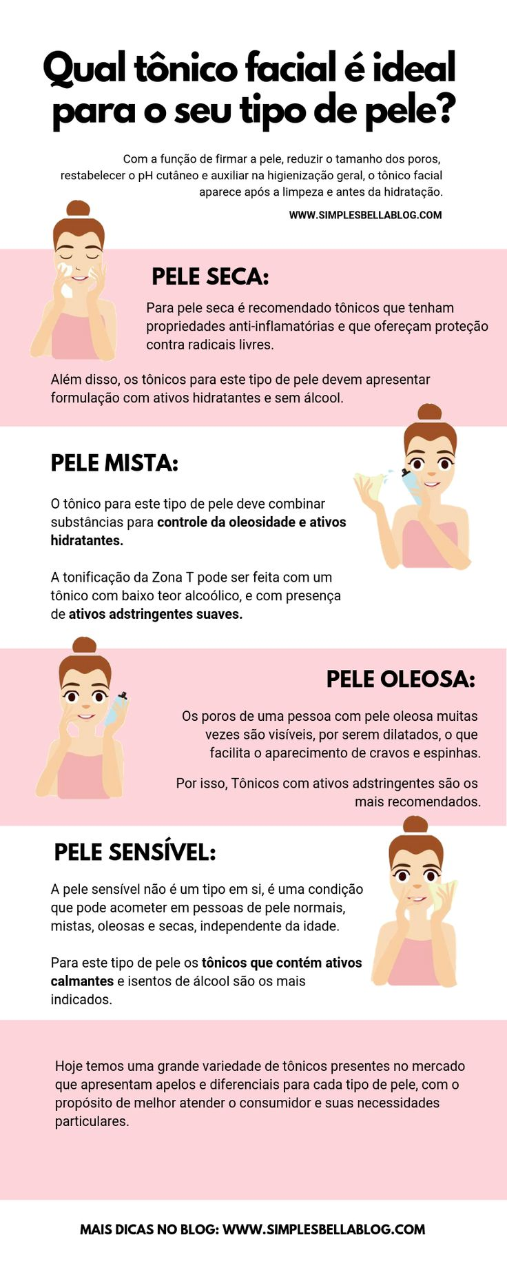 O tônico facial ideal para cada tipo de pele
