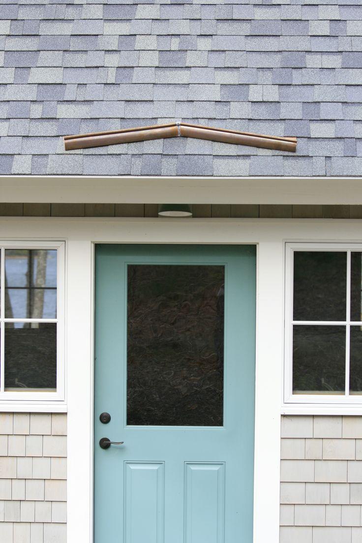 rain diverter over door House exterior, Metal roof