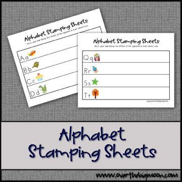 Alphabet Stamping Sheets Free Printable - Work on letter recognition, sound and stamping words!: Printable Letters, Stamping Printables, Alphabet Stamping, Letter Recognition, Stampingsheetsbutton Jpg, Alphabet Letters, Sheets Free, Stamping Sheets, Free Printables