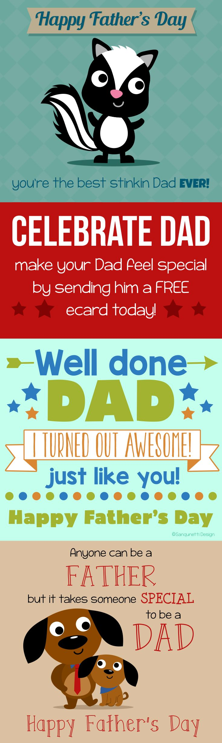 Celebrate Dad this Father's Day by sending him a free ecard greeting card!