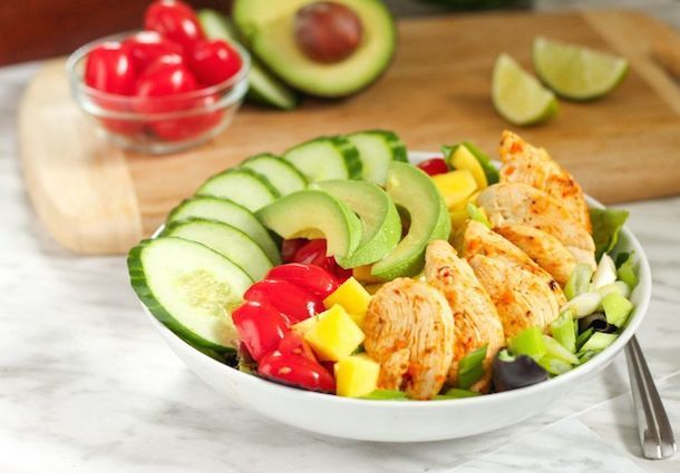 Spicy Lime Chicken Salad from @eatspinrunrpt.